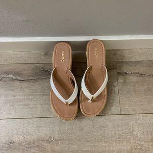 Aldo Wedge Thong Sandals